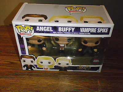 FUNKO Pop Television BUFFY the Vampire Slayer 3 Pack HMV Exclusive w/Angel Spike