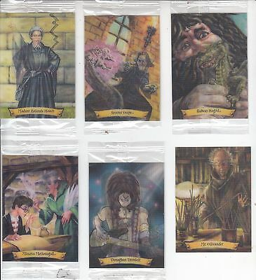 Lot of 6 Different HARRY POTTER Chocolate Frog 3D Trading Cards - Sealed