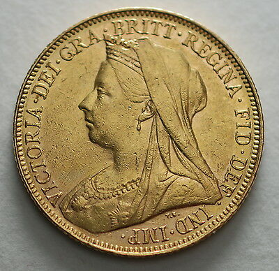 1900 M   AUSTRALIA Melbourne  MINT GOLD SOVEREIGN COIN