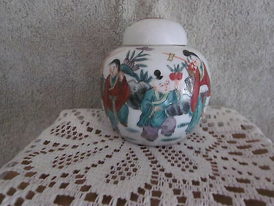 Chinese Antique Ginger Jar Hand Painted Detail Rare red  Markings