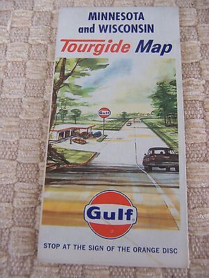 Vintage 1967 Gulf Map - Minnesota and Wisconsin Tourgide Map