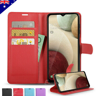 Premium Leather Wallet Card Flip Case Cover for Samsung Galaxy A20 A30 A5 A8