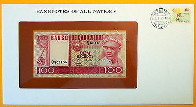 Cape Verde - 100 Escudos - Uncirculated Banknote enclosed in stamped envelope.