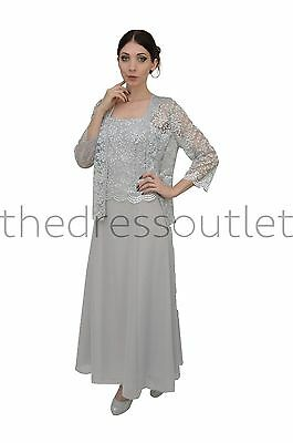 DressOutlet Long Mother of the Bride Formal Dress Plus Size Dress Jacket
