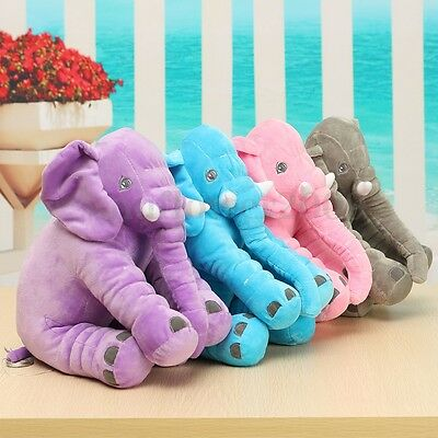 Elephant Long Nose Doll Sleep Pillow Lovely Plush Baby Kids Lumbar Soft Cushion