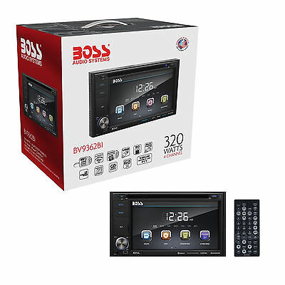"""BOSS BV9362BI Double Din 6.2"""" Touchscreen Car DVD Player with Bluetooth & Remote"""