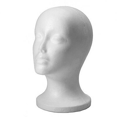 Female Head Model Wig Hair Hat Display Styrofoam Foam Mannequin Manikin Voguish