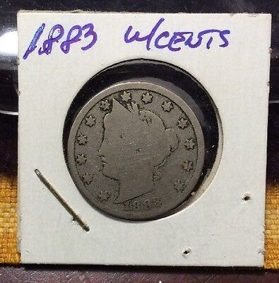 1883 liberty nickel WITH CENTS - Rare Key-date