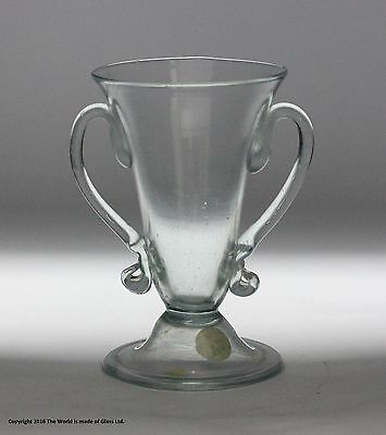 Georgian, scarce, translucent twin-handled jelly glass