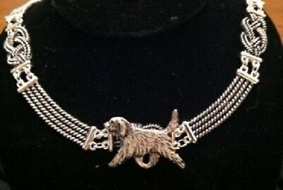 Otterhound Dog Knot Necklace~dog jewelry~infinity/celtic ~Otter hound