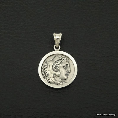 Alexander The Great Coin Pendant 925 Sterling Silver Greek Handmade Art Unique