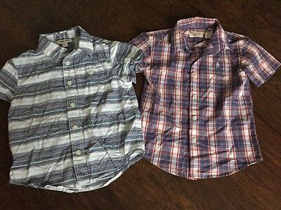 Boys Short Sleeved Button Down Shirts - Size 4T - Penguin and Cherokee - Cute!!!