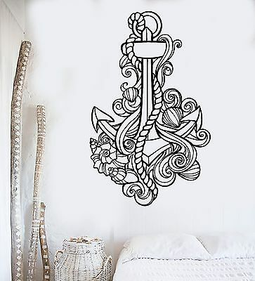 1324ig Vinyl Wall Decal Sea Spiral Shell Ocean Beach Marine Style Stickers