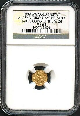 1909 1/2 DWT Alaska-Yukon-Pacific Expo Hart's Coins of the West NGC MS-63-142352