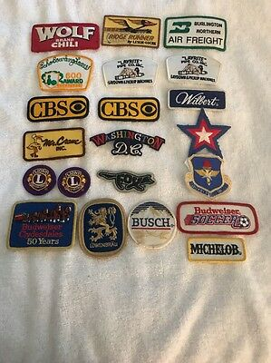 Lot Of 21 Various Advertising Patches New And Never Sewn On Or Worn