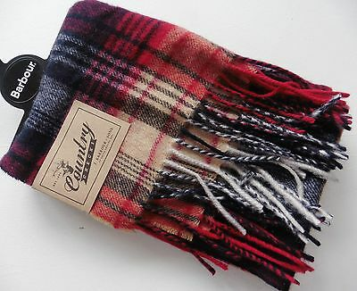 Unisex Scarf Barbour Country Tartan  Made In Uk 100% Lambs Wool New Tags