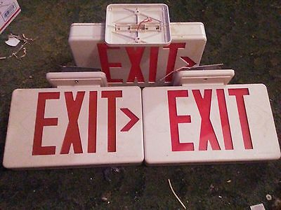 exit signs emergency/man-cave lighting lot of 3 only two work