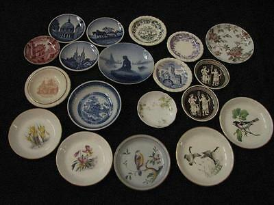 Collection of 19 Vintage Butter Pats Spode Limoges Royal Worcester Staffordshire