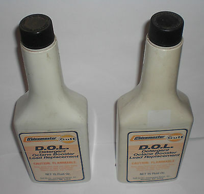Gulf Cruisemaster D.O.L. Detergent Octane Booster Lead Replacement 2 bottles