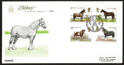 Abbey Limited Edition FDC 1978 HORSES COVER WITH PETERBOROUGH POSTMARK