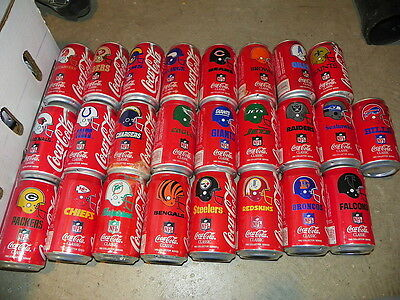 Coca Cola 1992 Football Can Set Of  25 Coke Cans