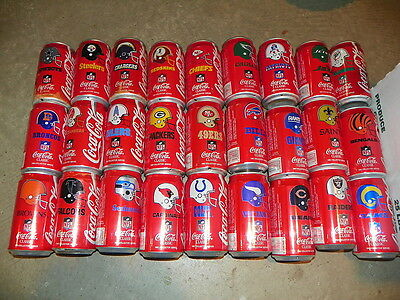 Coca Cola 1992 Football Can Set Of  27 Coke Cans