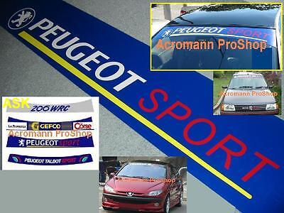 "53"" Peugeot Sport Windshield Sun strip Decal Sticker 106 206 207 306 307 308 406"