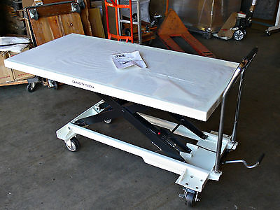 JET Jumbo Scissor Lift Table w/ 1,100-lb. Capacity ~ Model SLT-1100