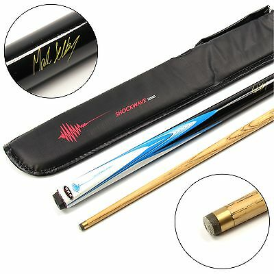 BCE Mark Selby ELECTRIC SHOCKWAVE 2pc Ash Pool Snooker Cue & SOFT CASE