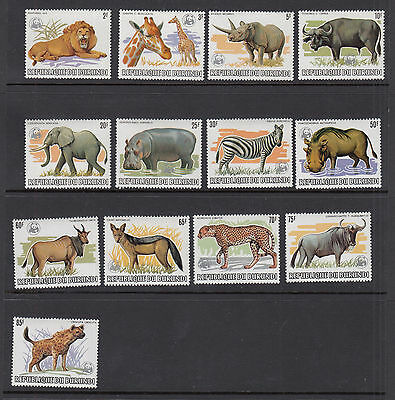Burundi stamps 1983 SC#589a-601a complete set World Wildlife Fed. Fund, animals