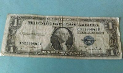 Us. 1935 D Issue $1 Dollar Silver Certificate Banknote