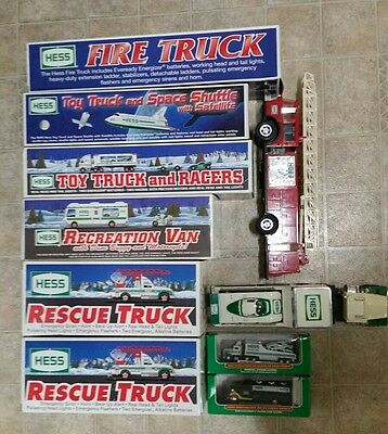 Hess Trucks collection 1988-2001 Rescue, Space Shuttle, Fire Truck, Recreation