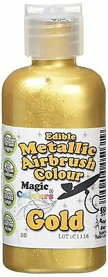 Magic Colours Metallic Edible Airbrush Gold Paint * Brand New * Fast Delivery