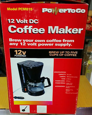 POWER TO GO PCM815 12 Volt 5 Cup Coffee Maker for Car and Boat RV