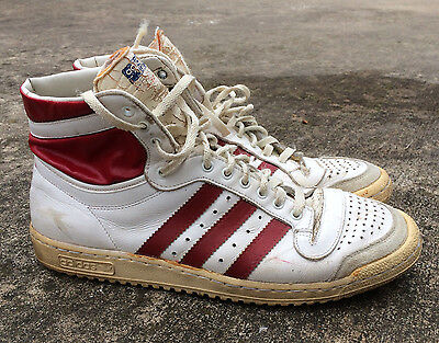 Rare Vintage Made in France Adidas Top Ten Shoes 1970's Originals High Top 9.5