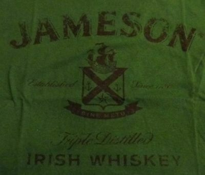 Jameson Irish Whiskey... Ladies T Shirt...Ladies Small...Green...NEW