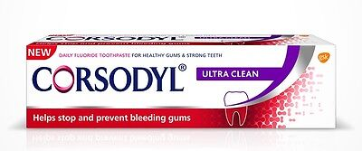 Corsodyl ® Daily (ULTRA CLEAN) Toothpaste 75ml HELP BLEEDING GUM, REMOVE PLAQUE