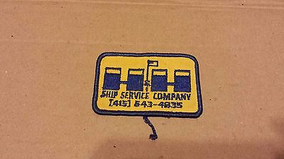 Vintage Ship Service Company Jacket Patch