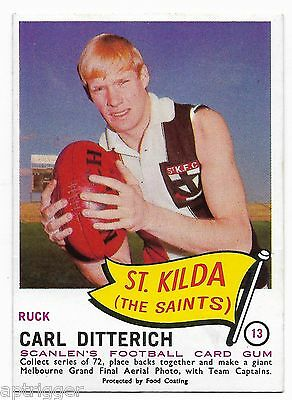 1966 Scanlens (13) Carl DITTERICH St. Kilda  { Mint }