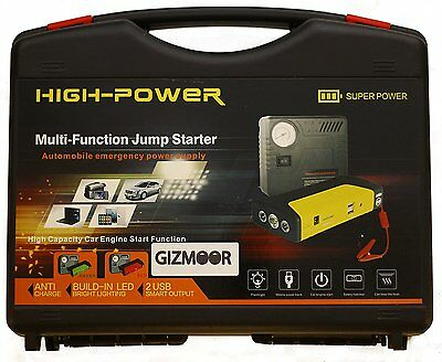 GIZMOOR Car Jump Starter 12V 16800mAh Booster Power Bank Battery Air Compressor