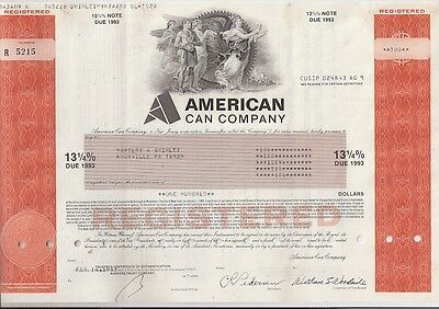 American Can Company.....note Due 1993