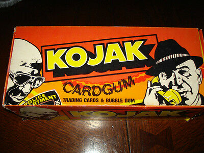 Vintage 1975 KOJAK TV Show Gum Wax Pack Trading Cards Dealer Box - 48 Packs MIB