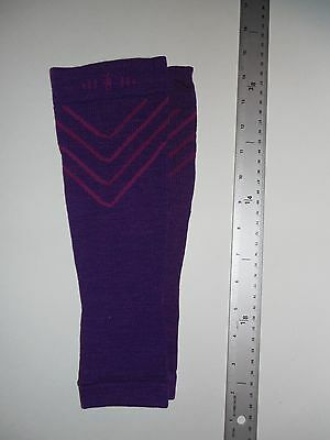 SMARTWOOL Women's Calf Compression Sleeves Large Violet Pink, Retails for $40