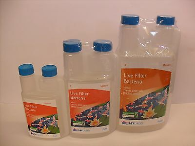 NT Labs Mature Live Filter Bacteria 250ml 500ml 1000ml Pond filter Treatment