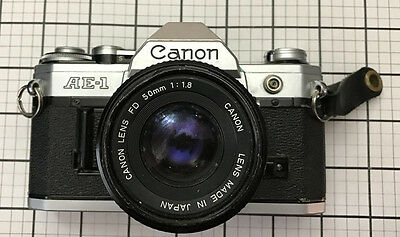 Canon AE-1 35mm Film Manual Camera w/ 50mm F1.8 Lens  Working Condition