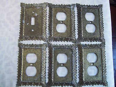 Vintage Brass Outlet Light Switch Covers 6 Hollywood Regency Mid Century Edmar