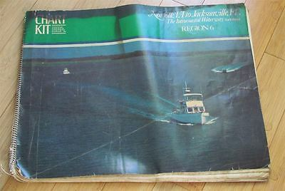 Vintage 1981 MAP BOOK Norfolk, Va to Jacksonville, Fl Intracoastal Waterway BBA