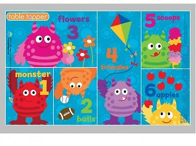Neat Solutions Neat Ware Monster Table Topper Disposable Adhesive Placemats