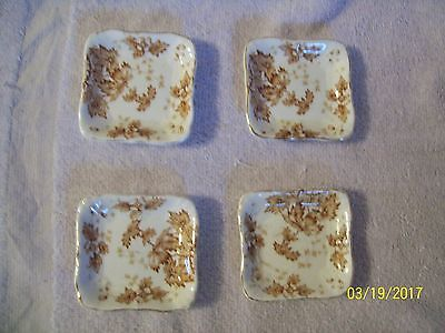 Vintage Lot Of 4 John Maddock & Sons Royal Viterous Butter Pats England 2 3/4""