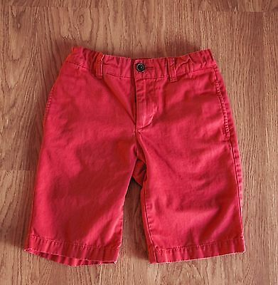 Tea Collection red shorts, size 7, boy or girl